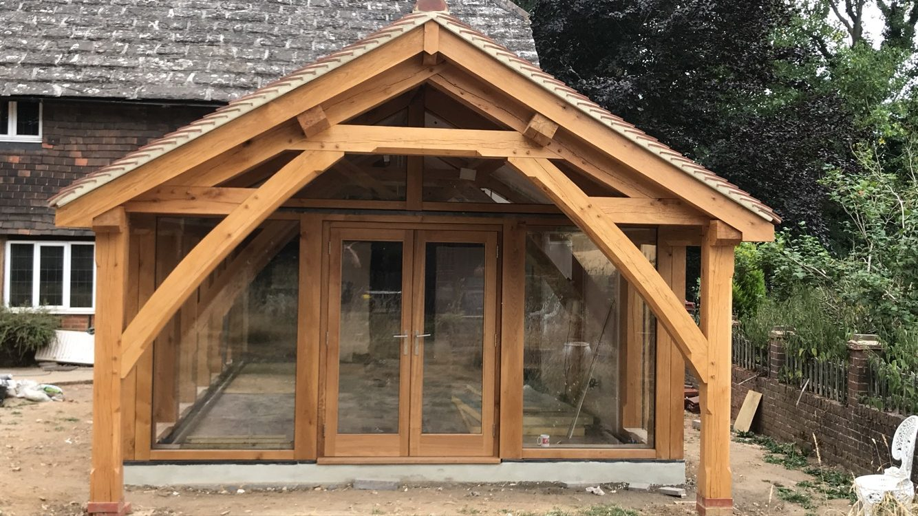 Arch Collar oak truss oak framed extension