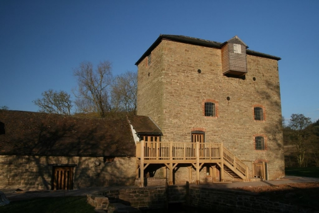 Oak balcony on an old mill