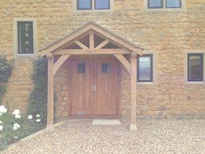 Wide frame oak porch