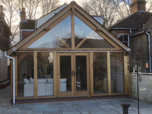 Glazed oak frame conservatory surrey