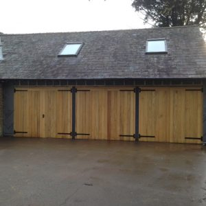 triple bay oak garage