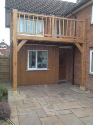 Oak balcony hereford