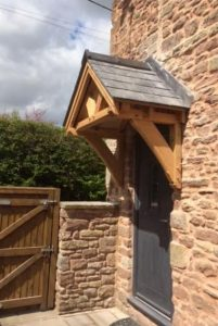 Oak Framed Canopy Herefordshire