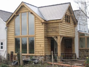 Oak Clad and Frame glazed extension