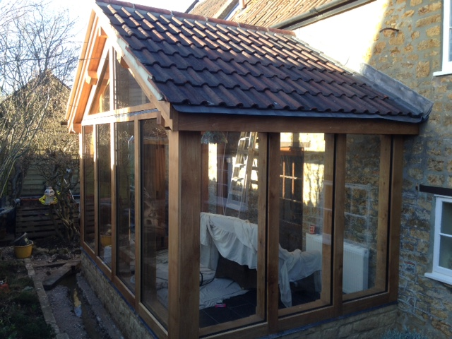 Oak and glass conservatory in Somerset