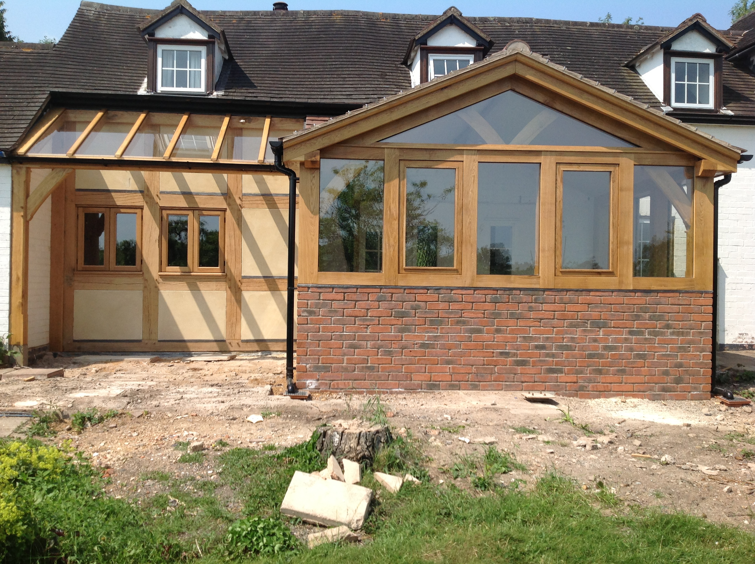 Oak conservatory and lean too