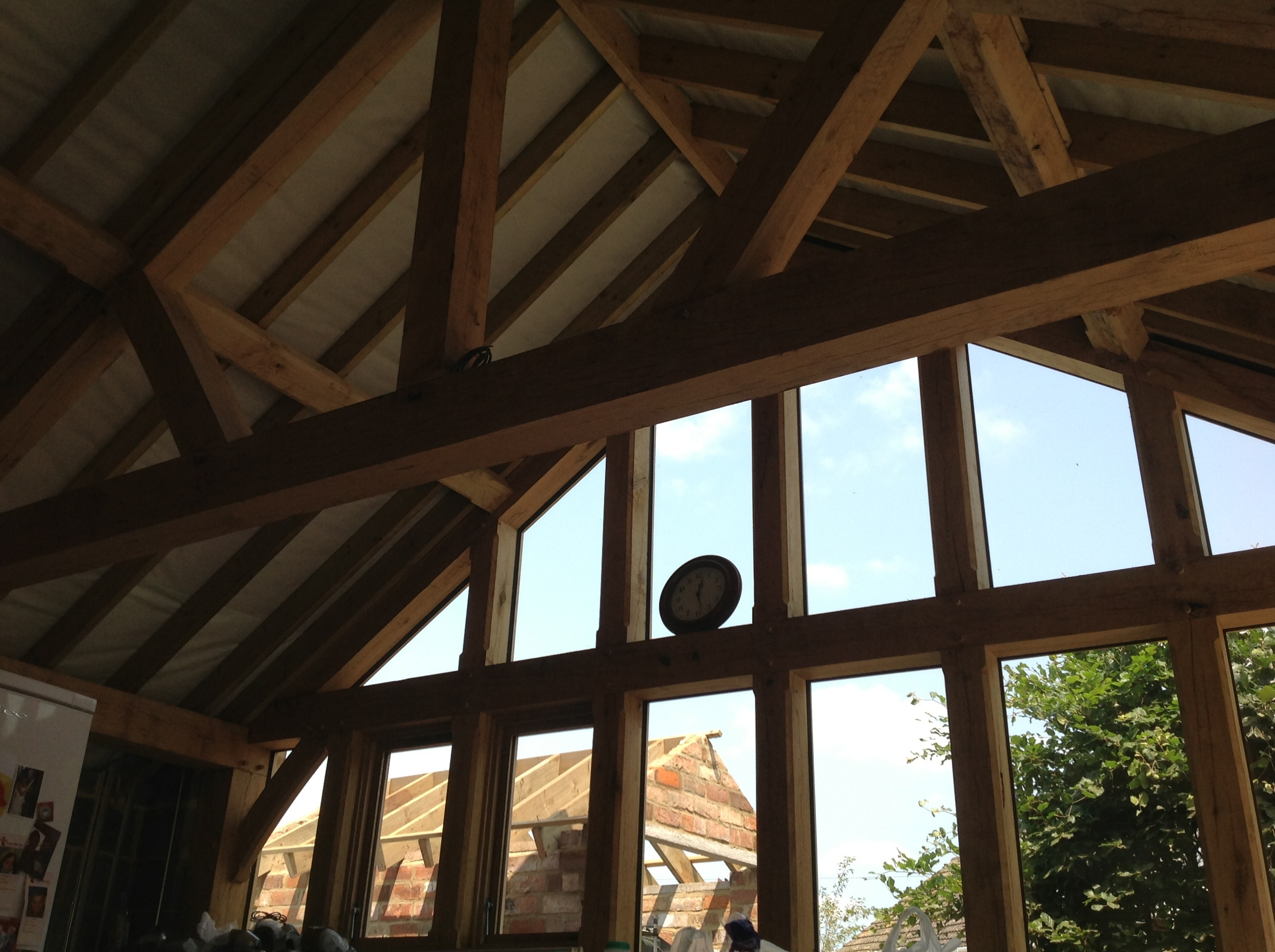 Oak framed extension with feature truss