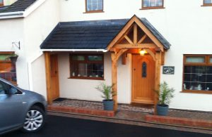 Lean too style oak porch with gable section