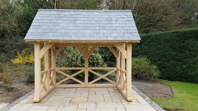 Oak garden room fitted near Southampton