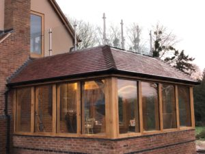 Oak garden room with balcony 3
