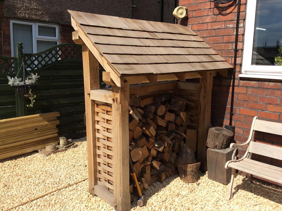 Oak log store