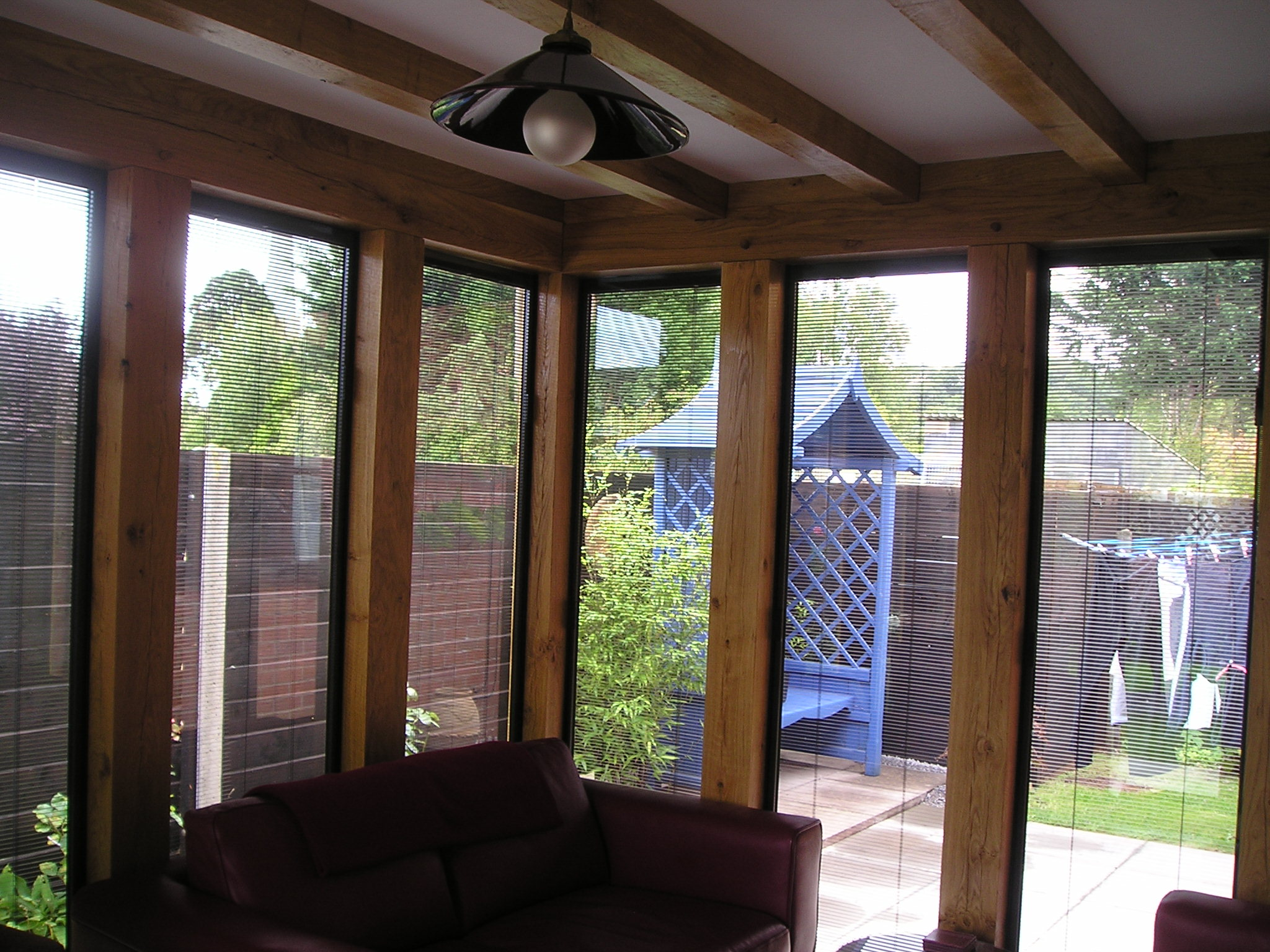 Oak and glass extension