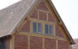 Oak extension with brick panels