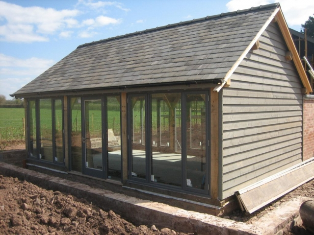 Glazed oak frame garden room