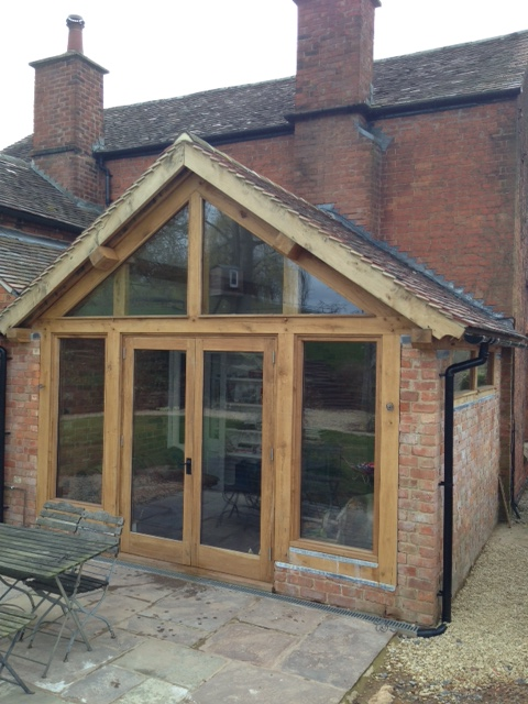 Oak Framed sun room Herefordshire