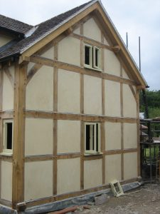 Oak extension with render panels