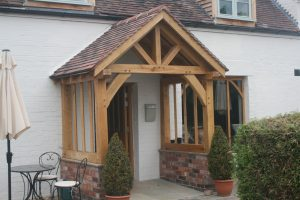 Oak Framed porch supplied and fitted near Malvern
