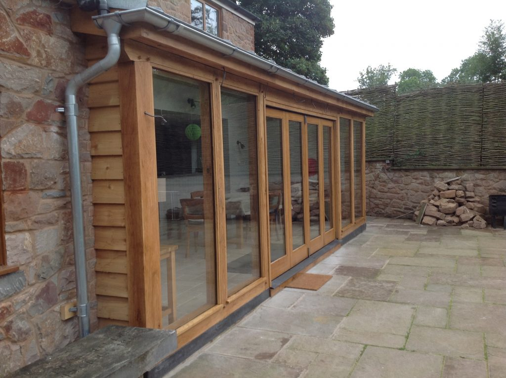 Lean too oak framed conservatory Worcesterhire