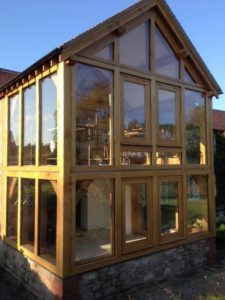 Oak Framed extension Herefordshire