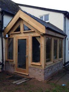 Oak framed corner conservatory