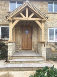 Oak Porch and door in Glos