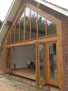 Oak framed gable end