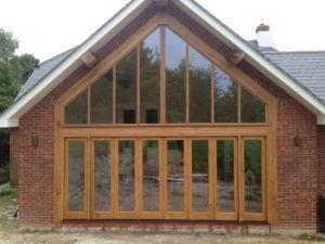 Oak Glazed gable extension