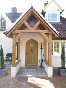 Oak Framed porch in Hampshire