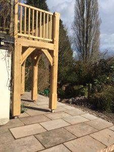 End of oak balcony