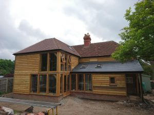 Oak extension with porch