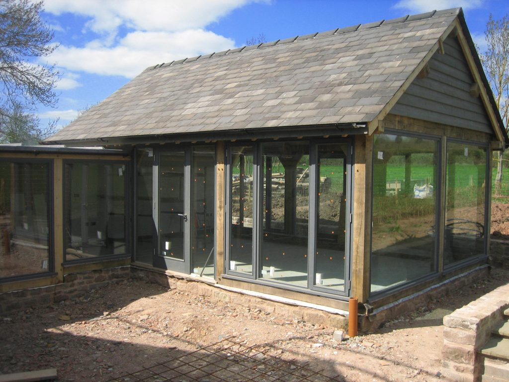 Oak Framed Sun room Extension fully glazed