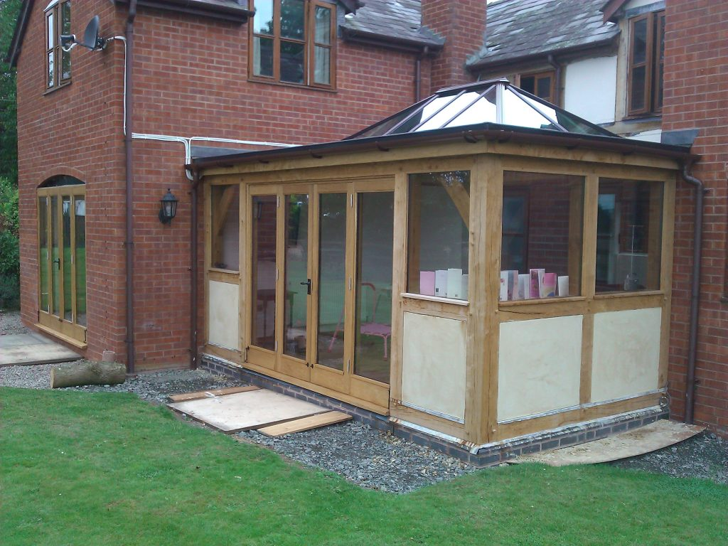 Oak Framed Orangery with lantern