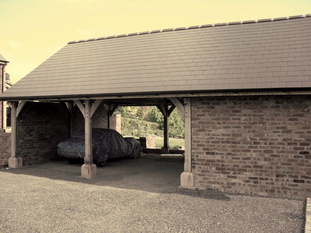 Oak carport