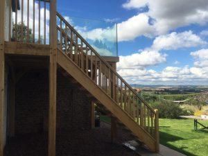 oak and glass balcony near Monmouth