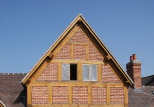 Oak and brick panel extension