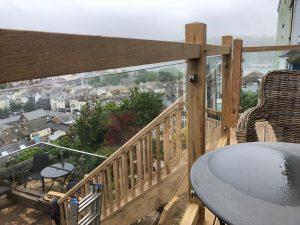 Dartmouth oak and glass balcony