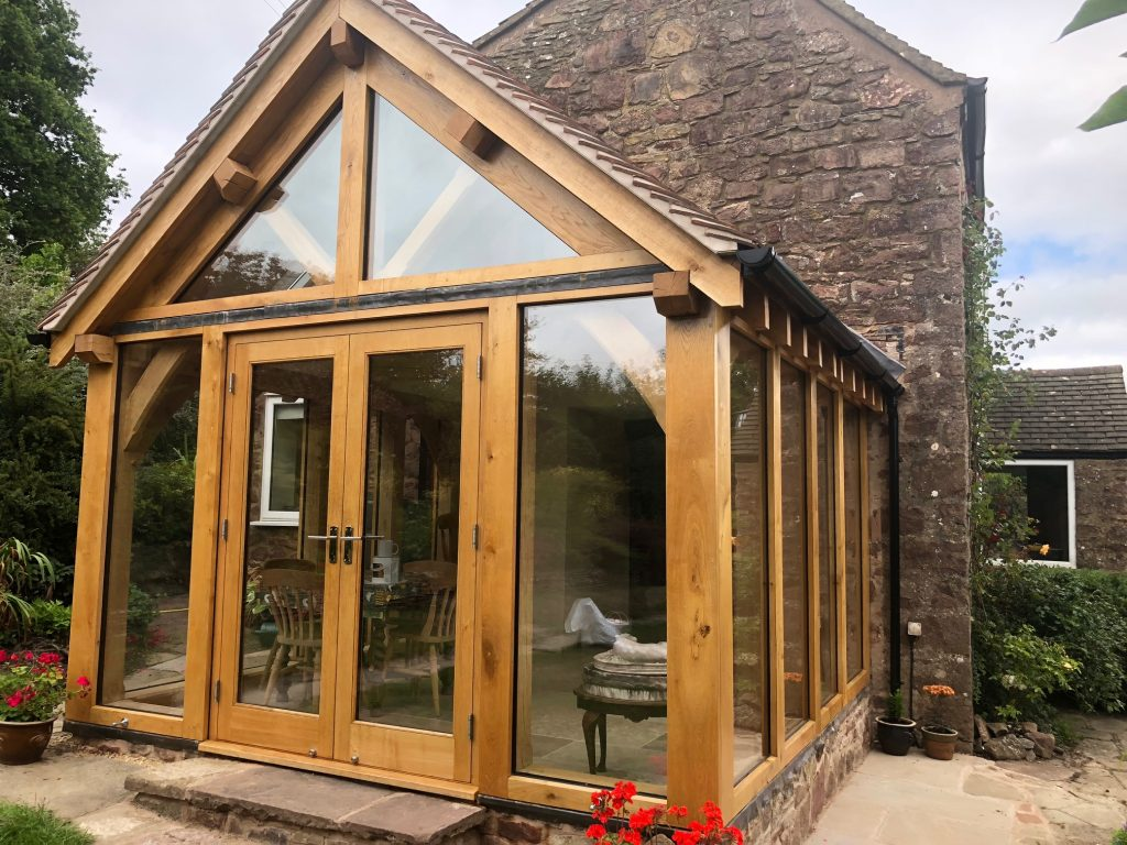Glazed oak conservatory