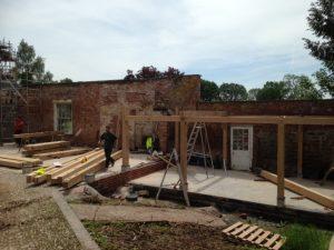 Oak Garage Frame