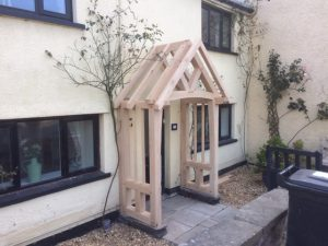 Oak framed porch welsh border