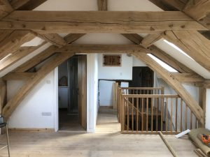 Arch collared truss oak extension