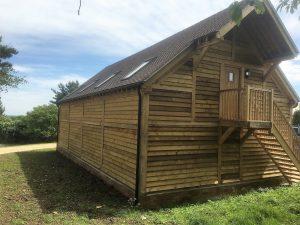 4 bay 2 storey oak framed garage