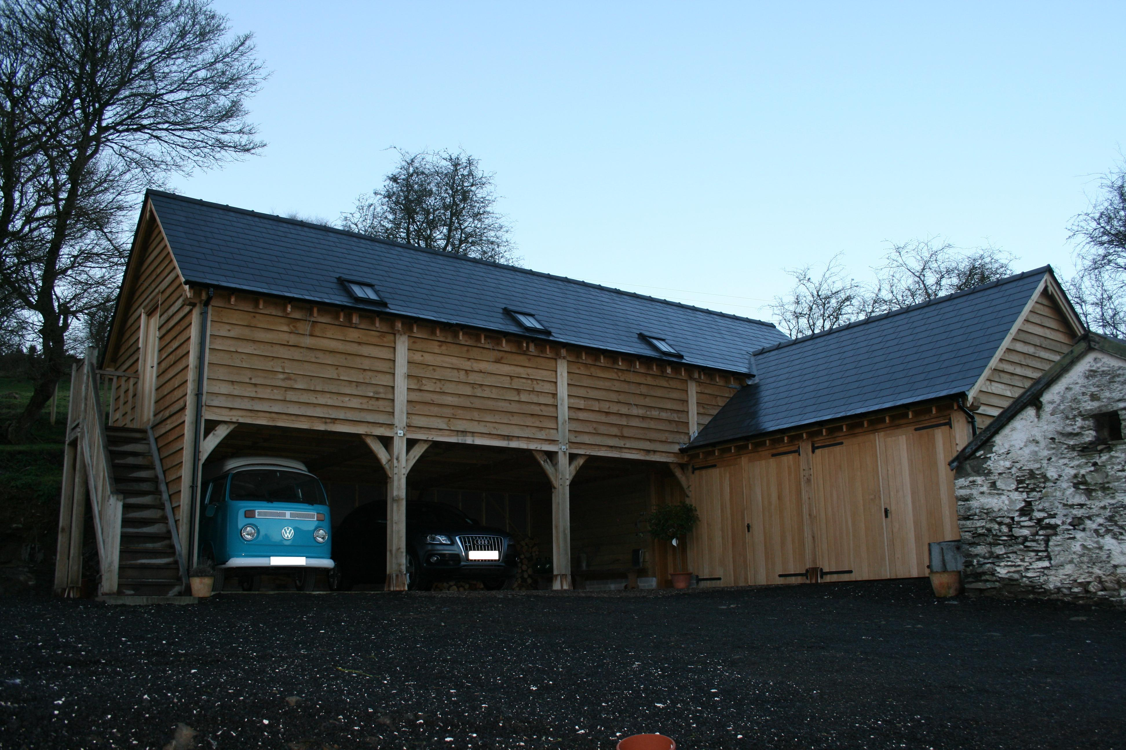 Large Oak Framed Two Storey Garage Wye Oak