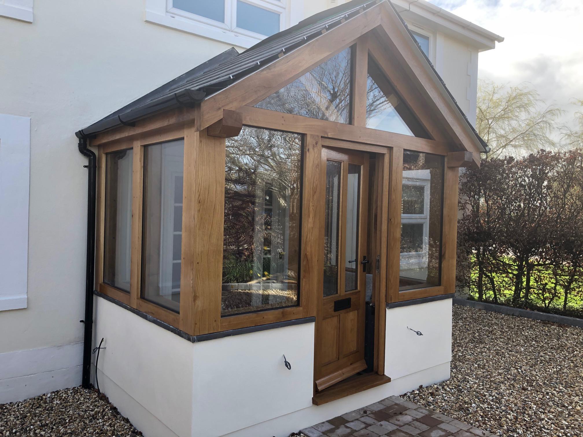 Enclosed Oak Porch Gloucestershire Wye Oak