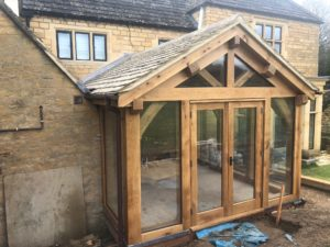 Fully glazed oak framed garden room